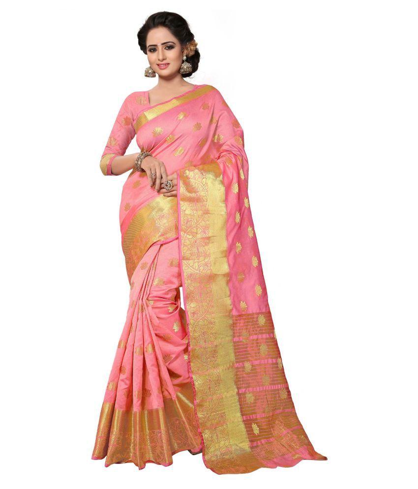 Sudarshan Silks Pink Georgette Saree