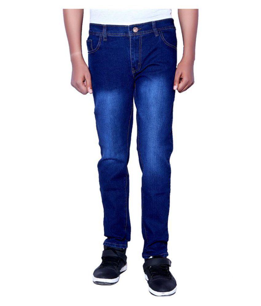 INDICUL Dark Blue Regular Fit Jeans