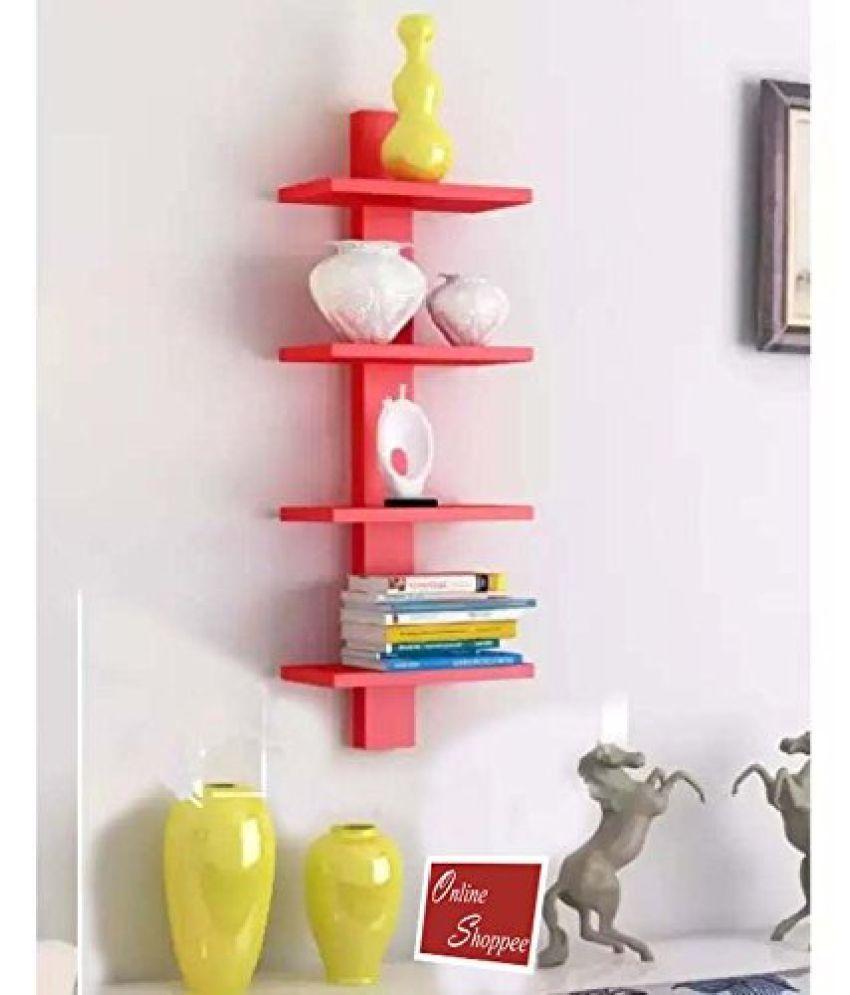 Onlineshoppee Floating Shelf/ Wall Shelf / Storage Shelf/ Decoration Shelf Red - Pack of 1