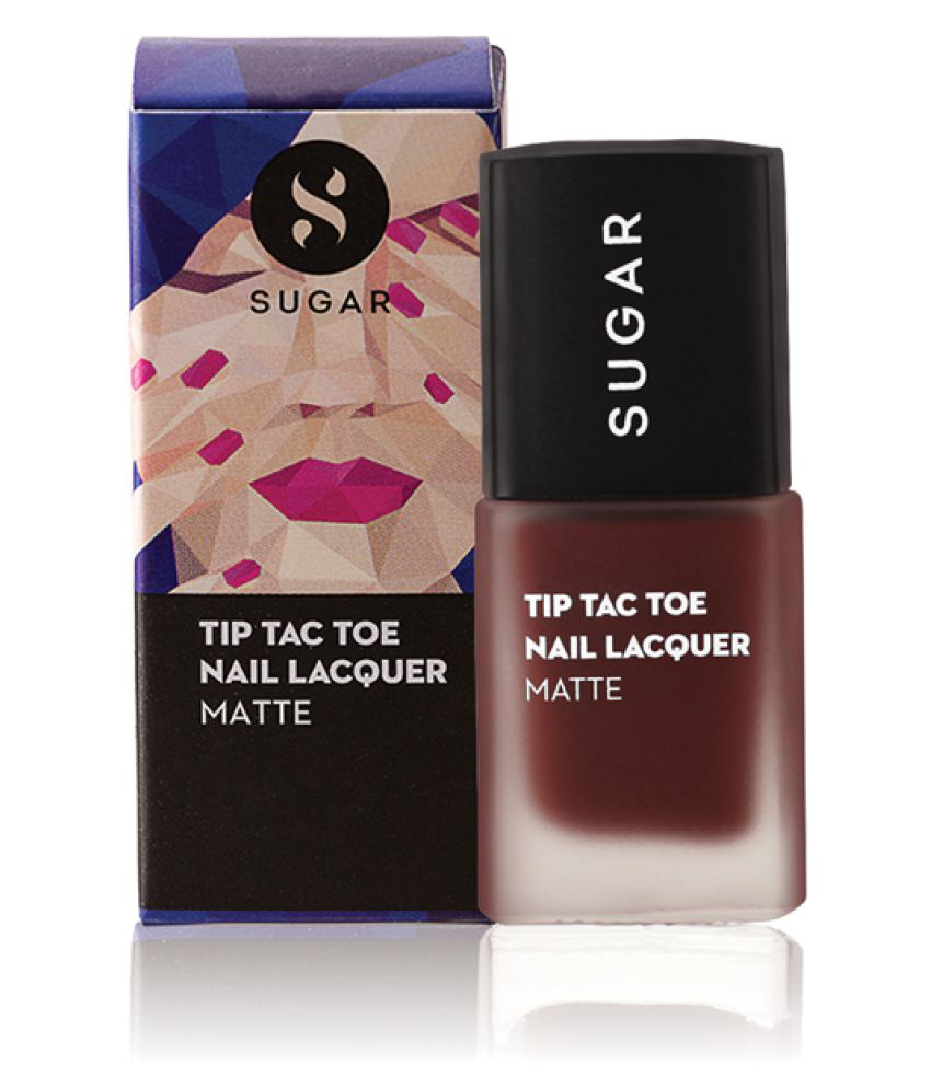 Sugar Cosmetics Tip Tac Toe Nail Polish - 048 Chestnut To The Chase (Berry Based Matte Brown) 10 ml