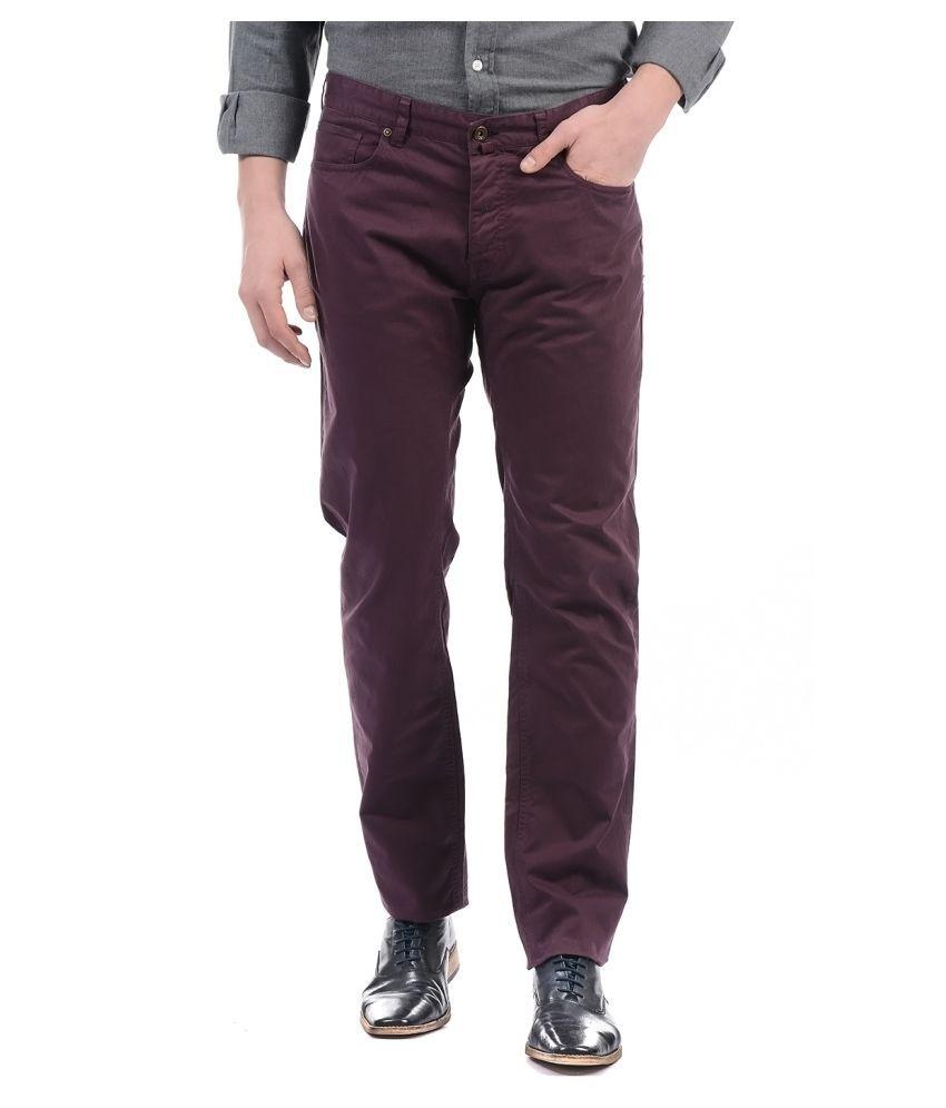 Gant Maroon Regular Fit Jeans