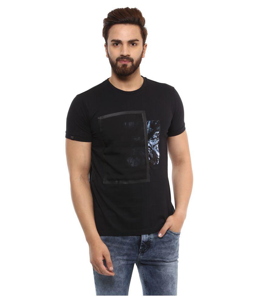 Mufti Black Round T-Shirt Pack of 1