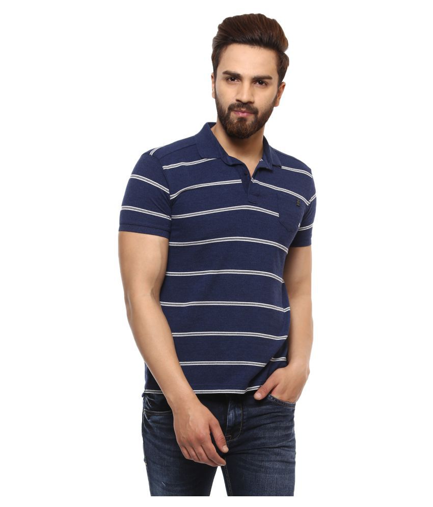 c0d7481128c6 Mufti Blue Slim Fit Polo T Shirt - Buy Mufti Blue Slim Fit Polo T Shirt  Online at Low Price - Snapdeal.com