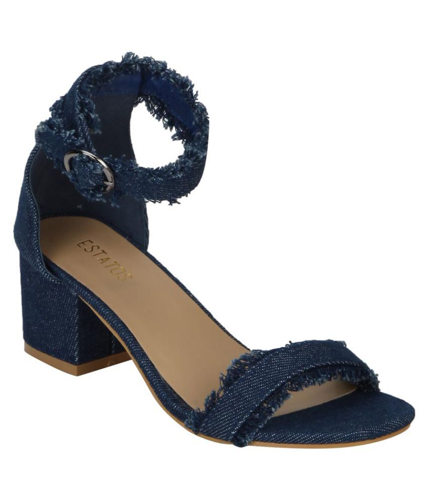 Estatos Navy Block Heels
