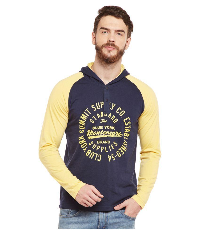 Club York Navy Hooded T-Shirt Pack of 1