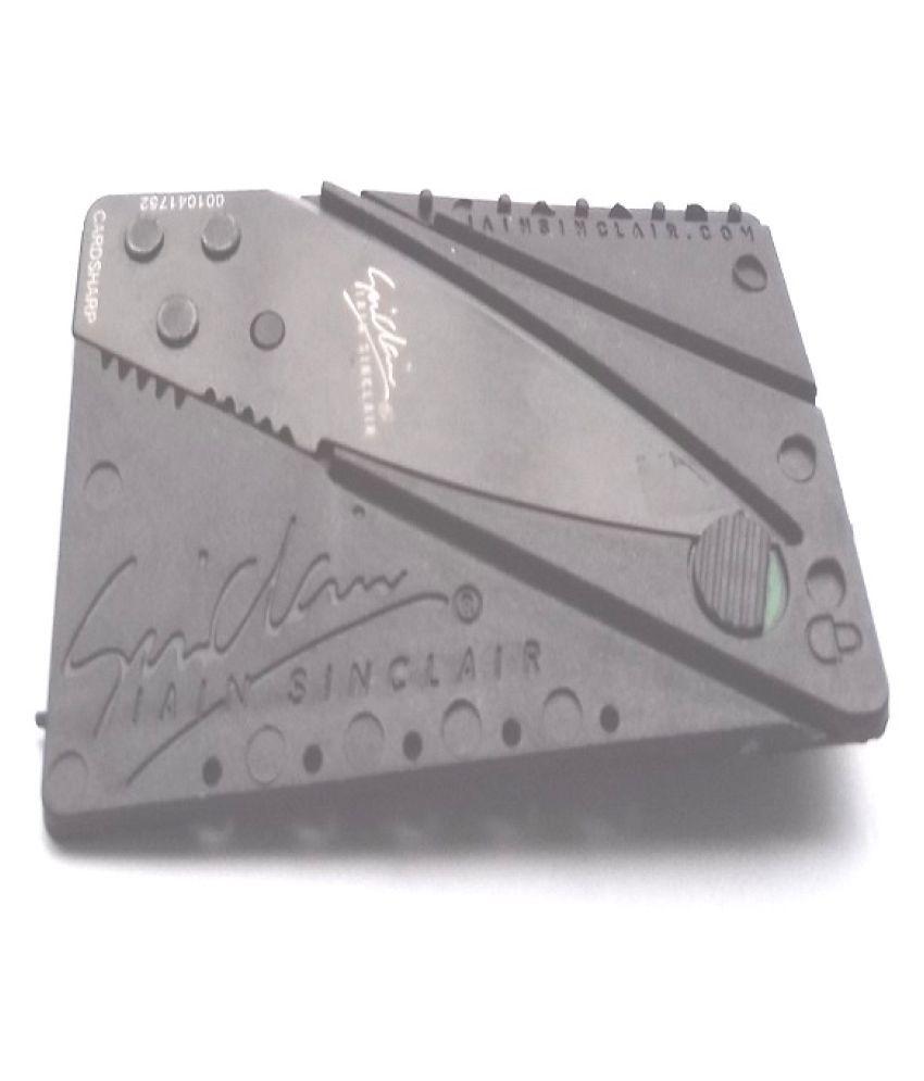 Pocket Credit Card Size Folding Hunting Knife