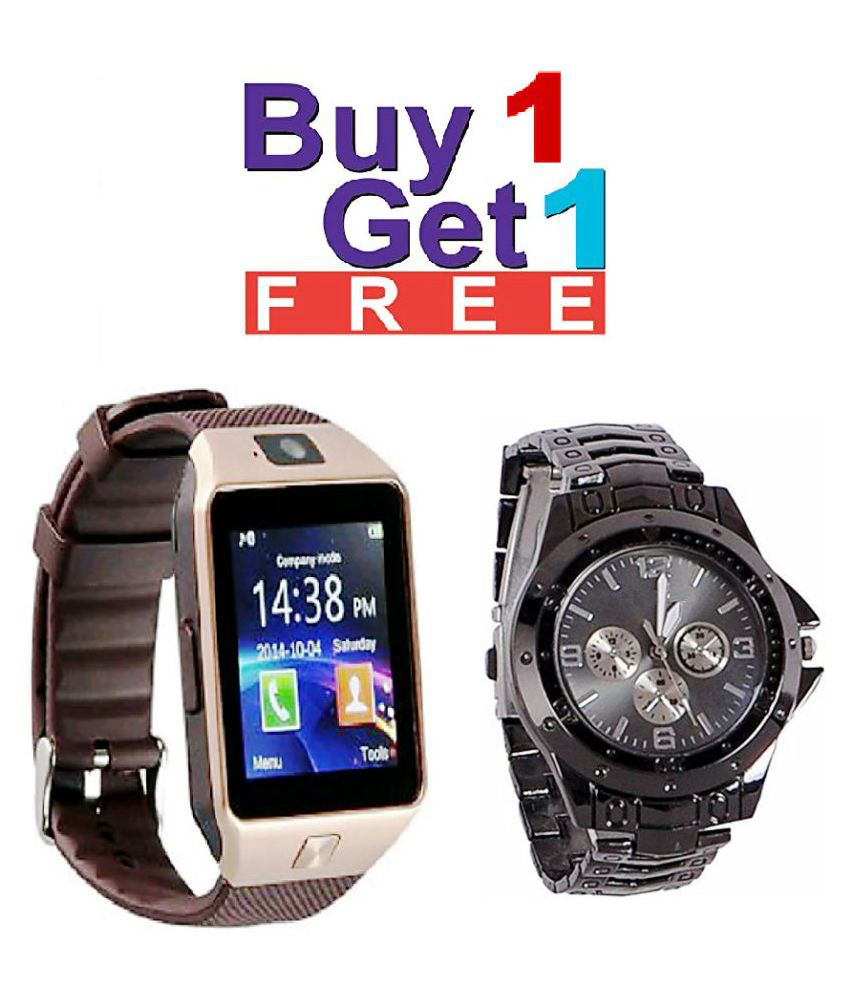 6d9bc3321fa S.L.G combo of free black rosra watch   dz09 bluetooth Smart Watches -  Wearable   Smartwatches Online at Low Prices