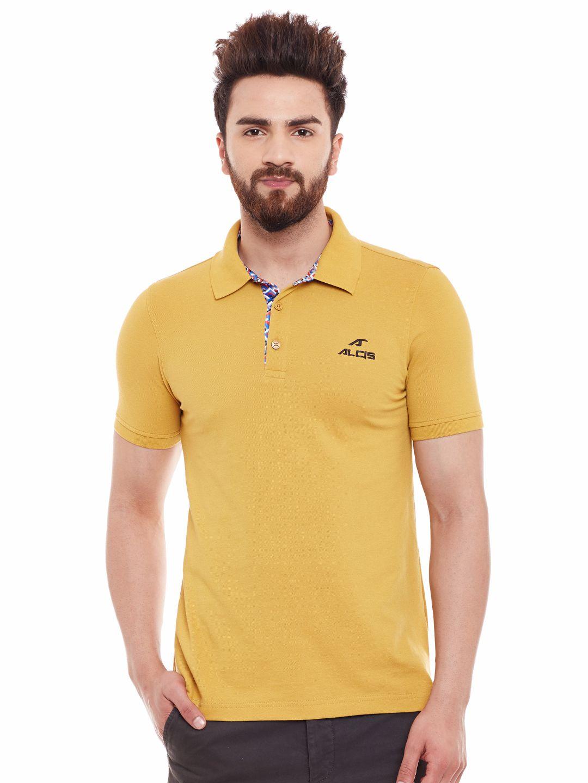 Alcis Mens Beige Polo Tshirt