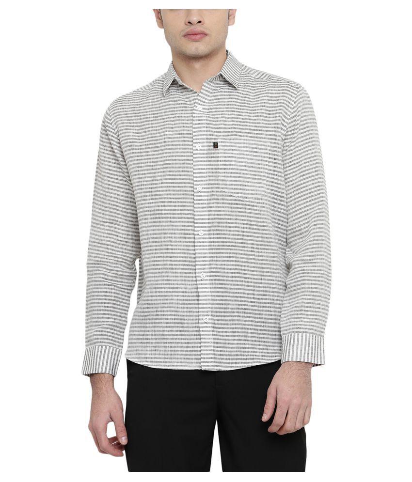 Black Orange Multi Regular Fit Shirt