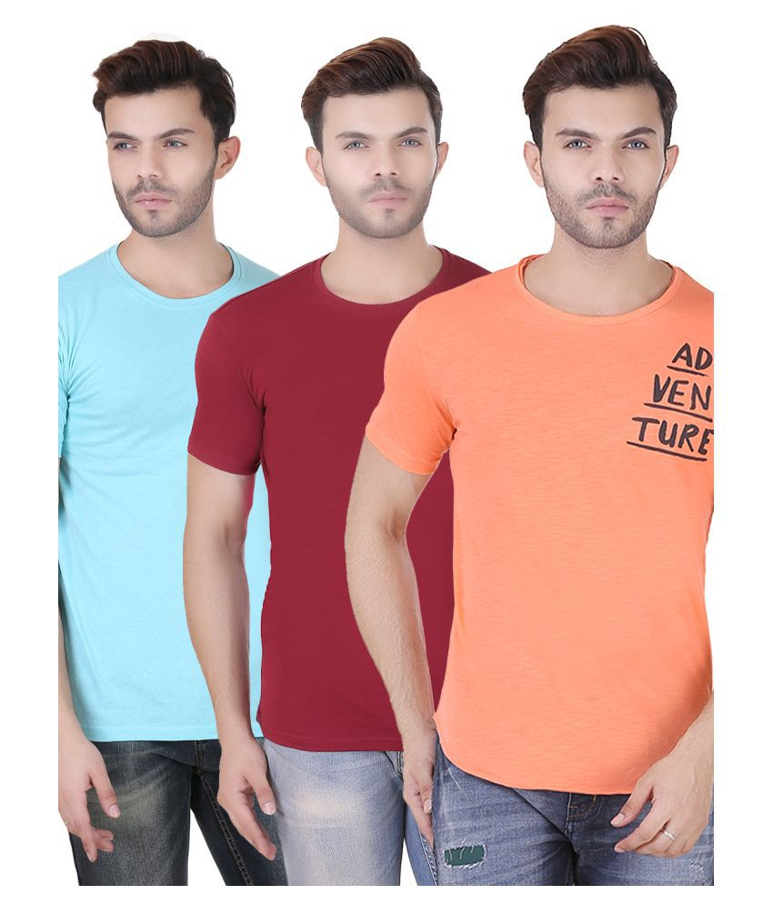 REALM Multi Round T-Shirt Pack of 3
