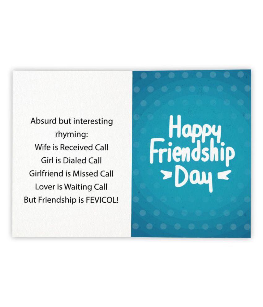 Kaarti Friendship Day Greeting Card Sk0400 Buy Online At Best