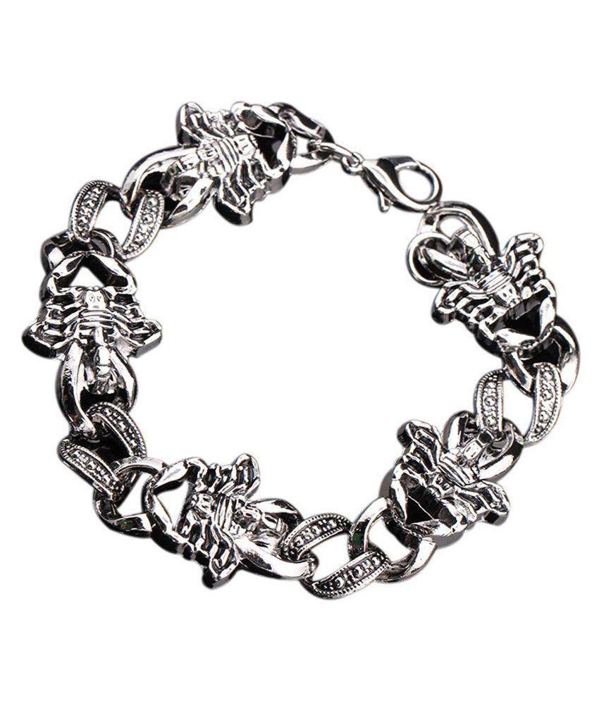 316L Stainless Steel Wrist Scorpion Bracelet Biker Chain link Unisex