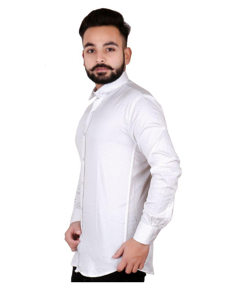 J P N White Slim Fit Shirt