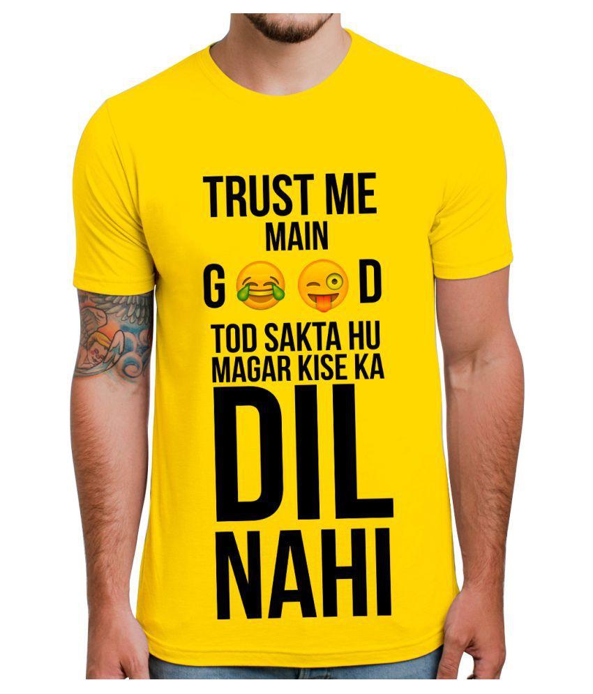 Ghantababajika Yellow Round T-Shirt