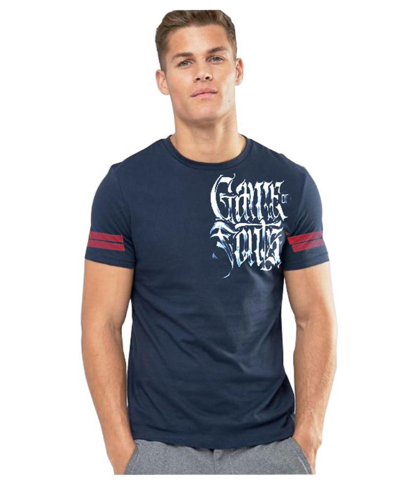 3point0 Navy Round T-Shirt