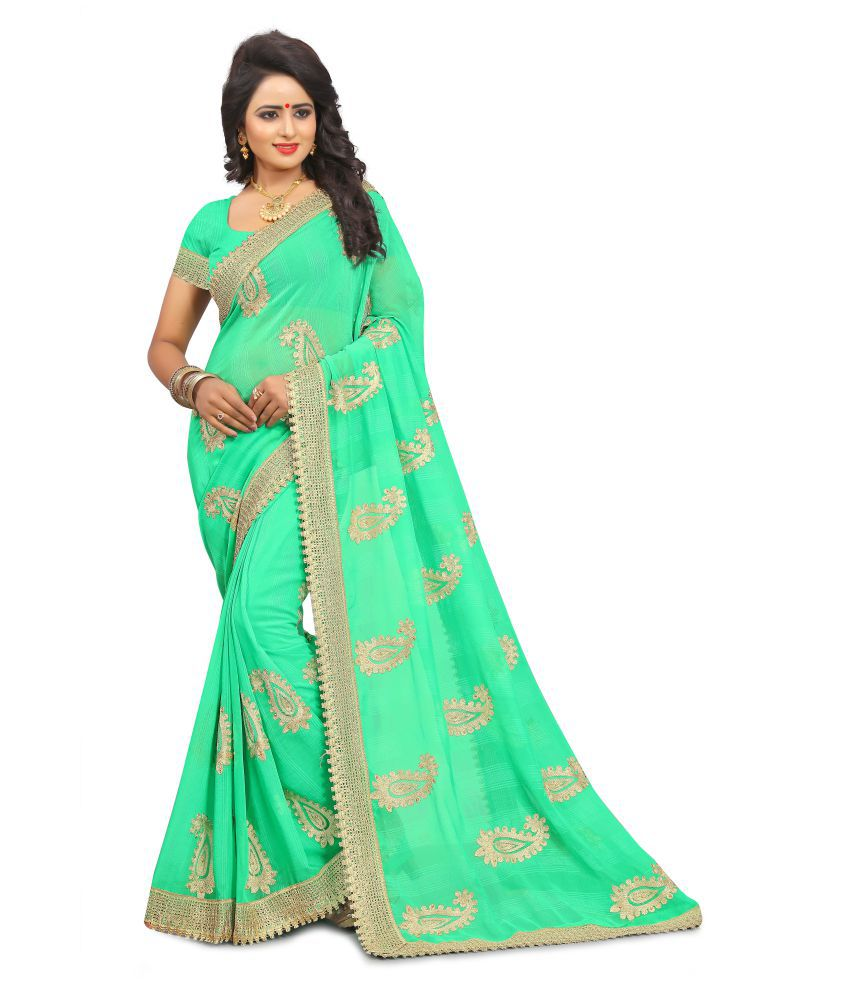 M.S.Retail Multicoloured Chiffon Saree