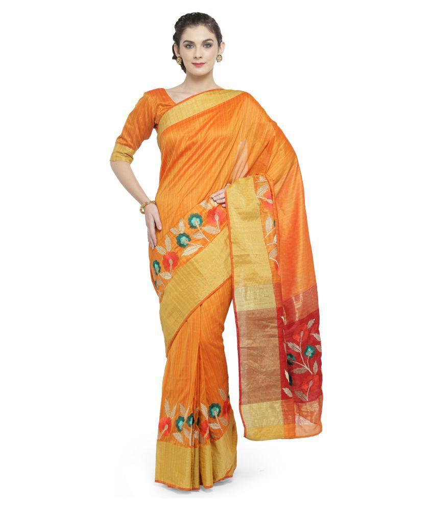 Patiala House Multicoloured Cotton Silk Saree