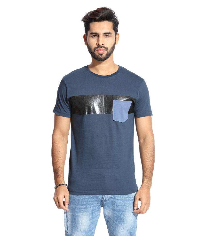 Handgrip Navy Round T-Shirt Pack of 1