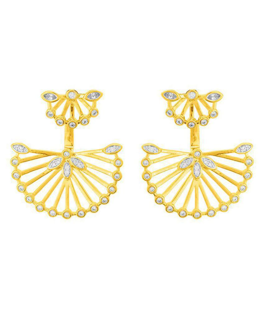 Voylla  Dainty Earrings with Gold Plating For Women
