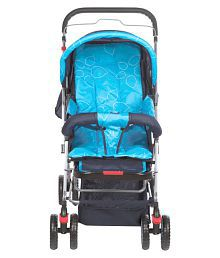 Mee Mee Comfortable Pram with 3 Seating Positions (Light Blue)