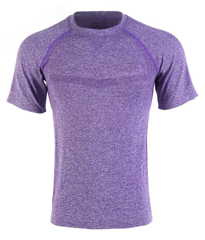 Gopalvilla Purple Nylon T-Shirt