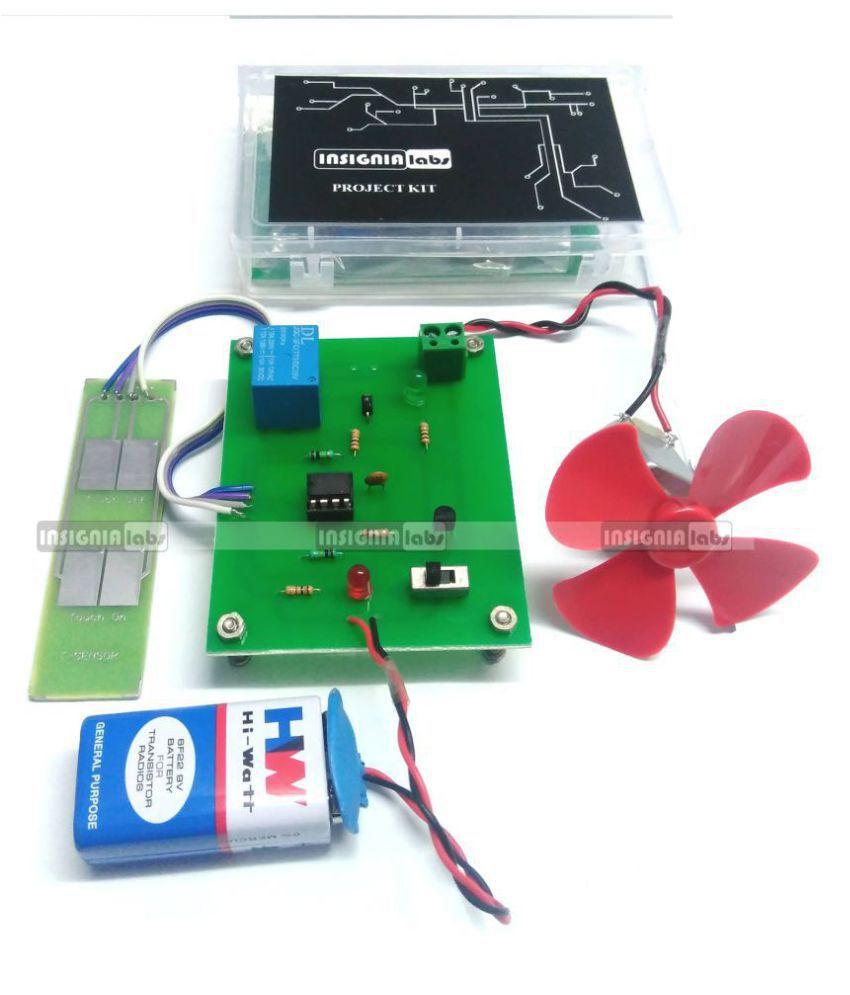 TOUCH SENSOR BASED MOTOR/FAN CONTROL PROJECT KIT - ELECTRONIC SCHOOL ...