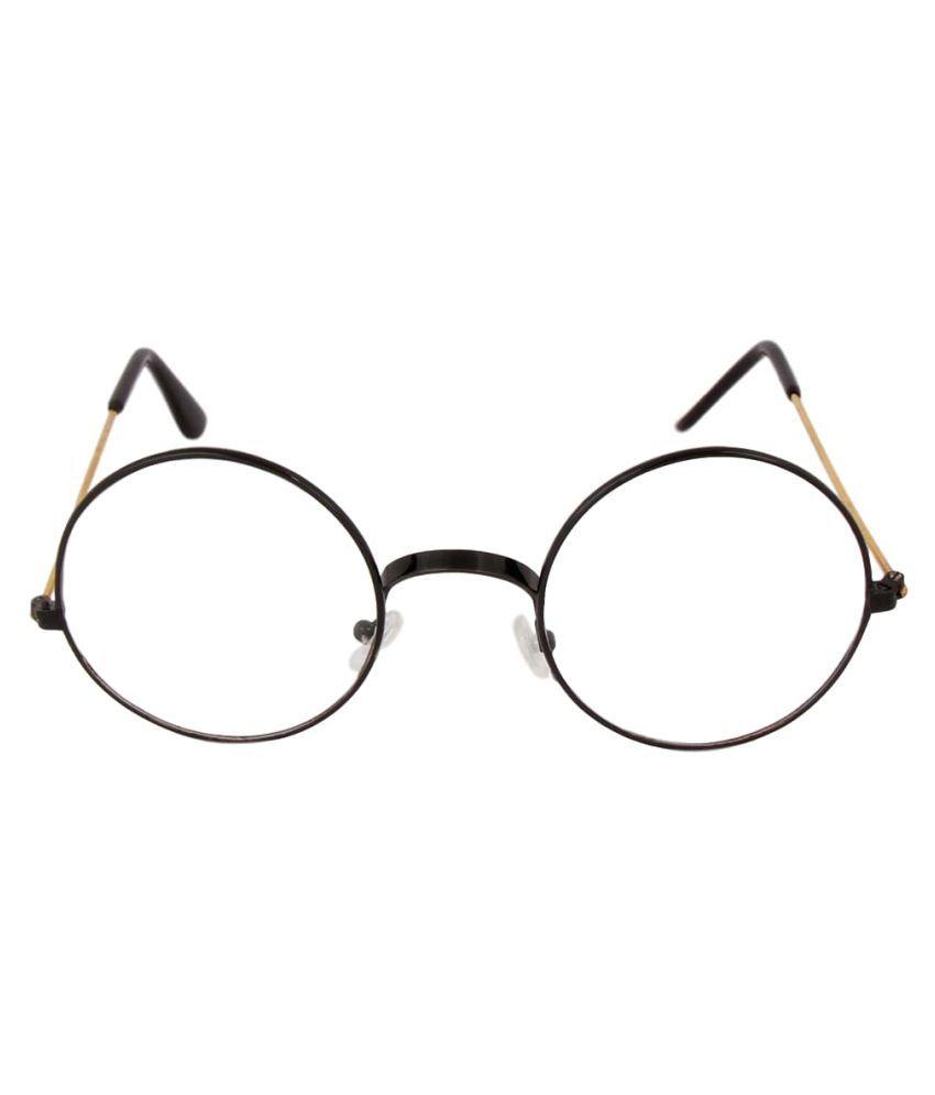 YTNAB Clear Round Sunglasses ( ROUND GOLDEN PLANE UNISEX SUNGLASSES )