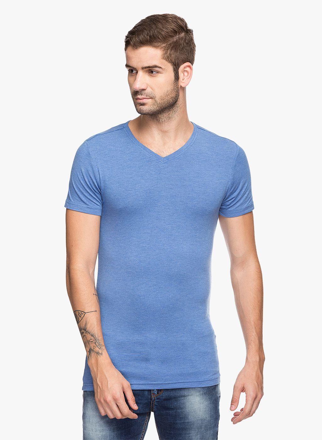 Status Quo Blue V-Neck T-Shirt Pack of 1