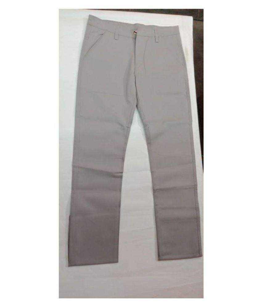 fashion mystery Grey Regular -Fit Pleated Trousers