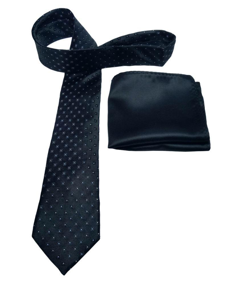 Mentiezi Black Printed Silk Necktie