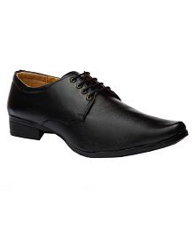 Black Field Oxfords Artificial Leather Black Formal Shoes