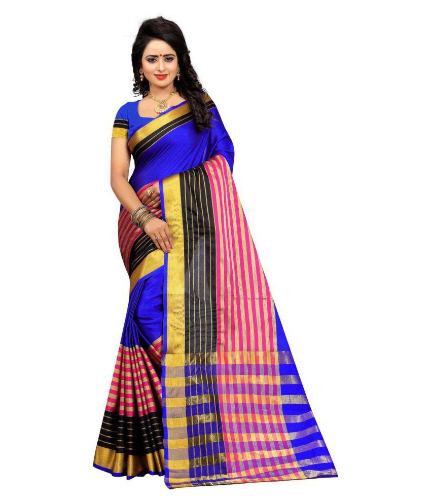 Bhuwal Fashion Multicoloured Cotton Silk Saree