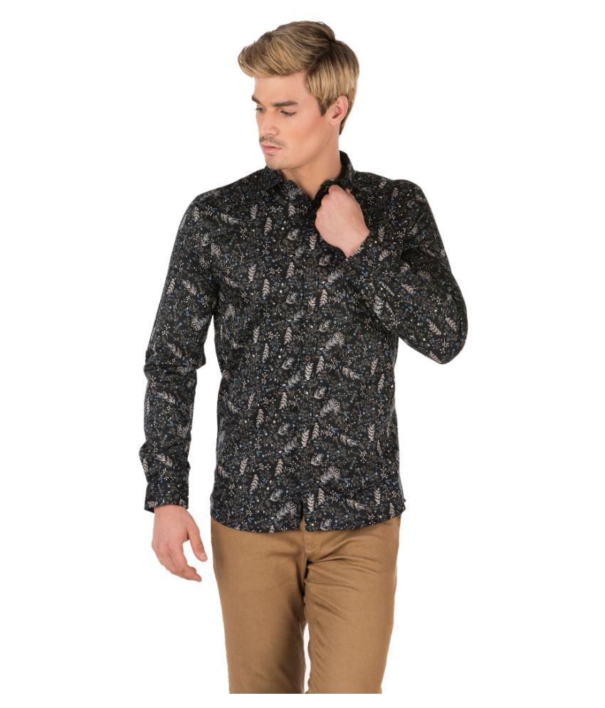 Fast n Fashion Black Slim Fit Shirt