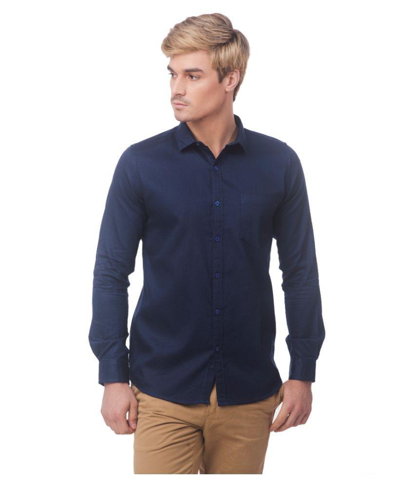 Fast n Fashion Navy Slim Fit Shirt