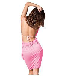 Fascinating Lingerie Synthetic Pink Cover ups