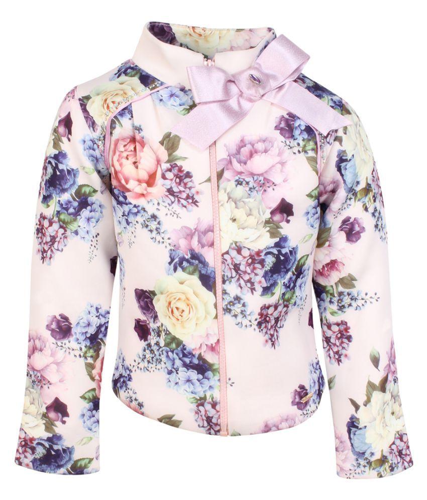 Cutecumber Girls Partywear Neoprene Winter Jacket