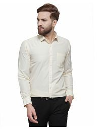 5b40151ce04 Off-White Color Formal Shirt  Buy Off-White Color Formal Shirts ...