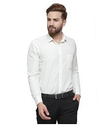 3f27fe15655 Off-White Color Formal Shirt  Buy Off-White Color Formal Shirts ...