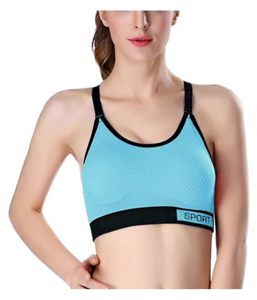 Dealseven Fashion Nylon Sports Bra - Turquoise