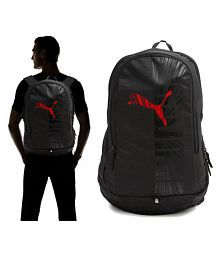 Puma Red Graphic Laptop Backpack