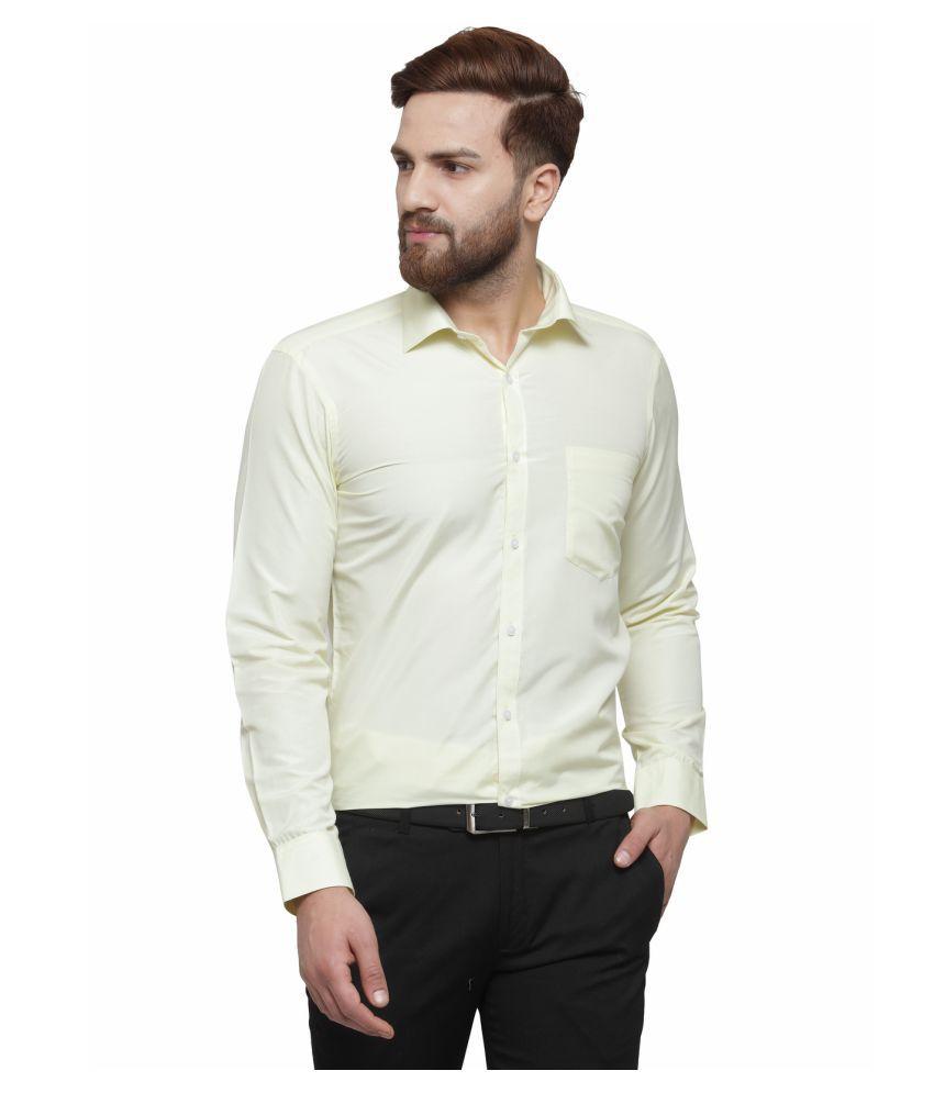 RG Designers Yellow Slim Fit Formal Shirt
