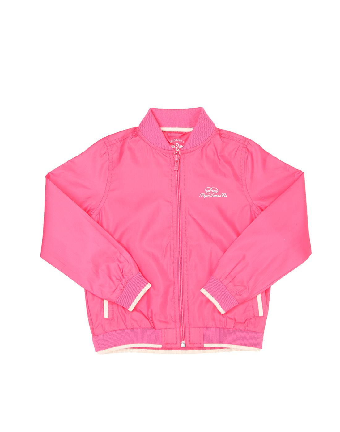 Pepe Jeans Girls Full Sleeve Casual Pink Jacket