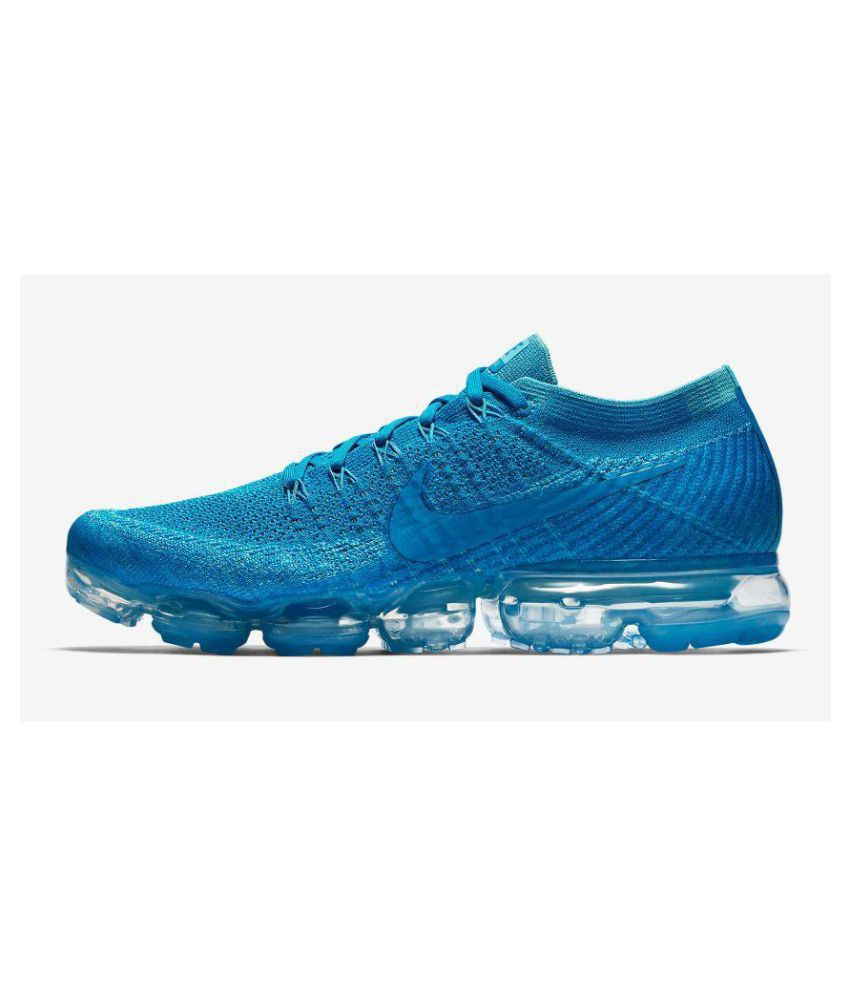 size 40 20323 4a8ec ... Nike Air Vapormax Flyknit Blue Running Shoes ...