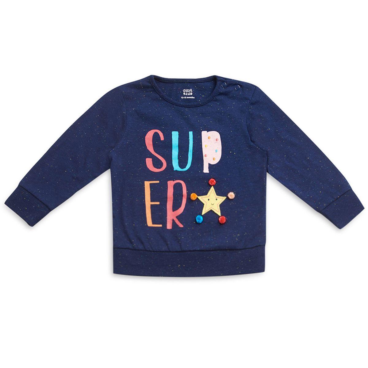 FS MiniKlub Girls Navy Sweatshirts