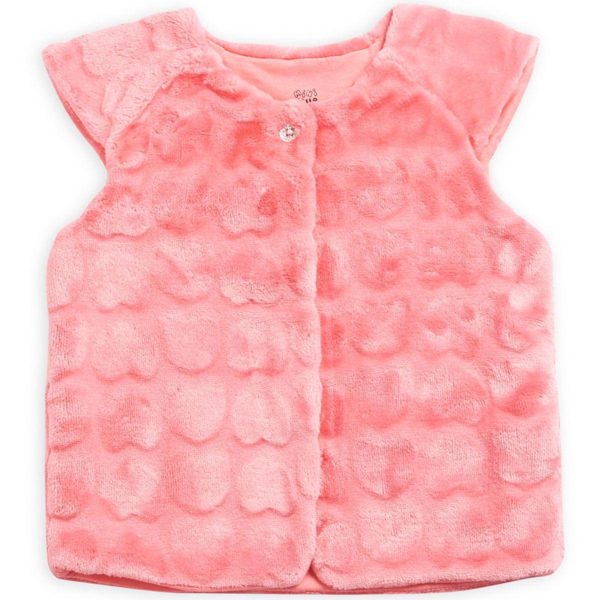 FS MiniKlub Girls Pink Sleeveless Jackets