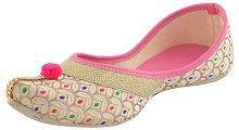 Vaniya shoes Pink Ethnic Footwear