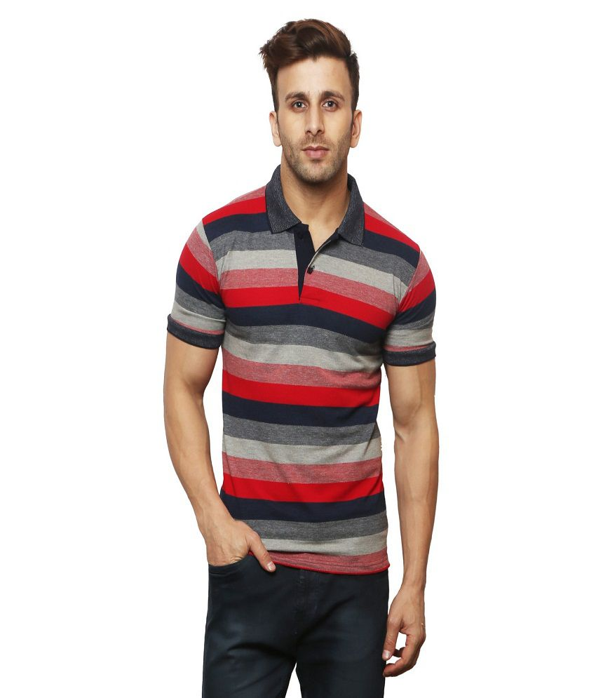 Leana Red High Neck T-Shirt Pack of 1