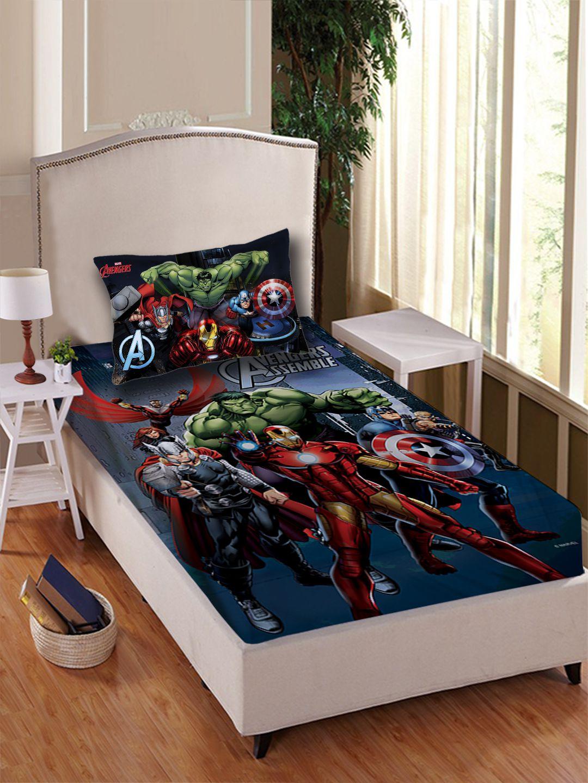 marvel avenger multi character single 1 single bedsheet and pillow rh snapdeal com
