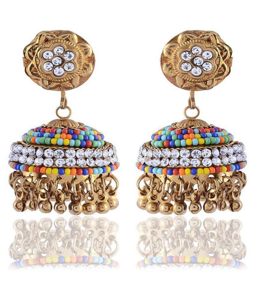 Sinjara Designer Metal Jhumki Earrings For Women (E-36)