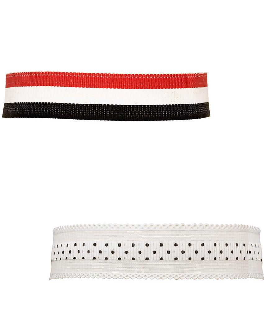 Voylla Set of Trendy Fabric Choker Necklaces